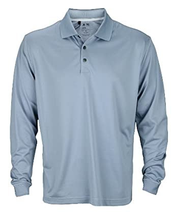 Adidas Mens ClimaCool Long Sleeve Pique Polos by adidas