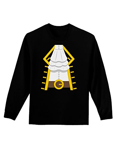 Pirate Captain Costume Gold Adult Long Sleeve Dark T-Shirt