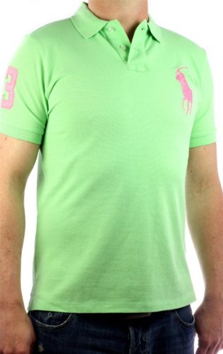 Polo by Ralph Lauren Big Pony Polo-Shirt Men`s shirt pink 3XL