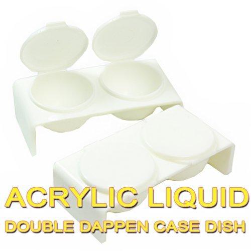 Acrylic Liquid Double Dappen Dish x 2 CODE: #DAPPEN_DISHx2