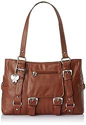 Butterflies Handbag (Brown) (BNS 0357)