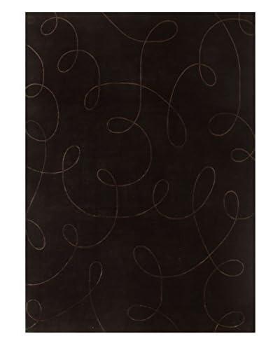 "Bashian Rugs Hand-Knotted Tibetan Rug, Chocolate, 9' 9"" x 14'"