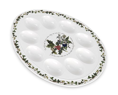 Portmeirion Holly & Ivy Devilled Egg Dish 12