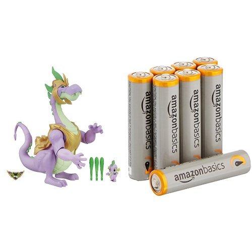 My Little Pony Guardians of Harmony Spike the Dragon with Amazon Basics AAA Batteries Bundle