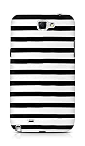 AMEZ designer printed 3d premium high quality back case cover for Samsung Galaxy Note 2 N7100 (black white lines)