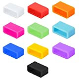 Getwow 10-Pack Mixed-Color Silicon Fastener Ring For Fitbit Flex Wireless Activity + Sleep Wristband