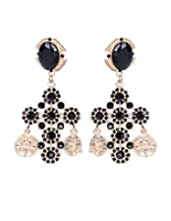 Cinderella Black Gold Earrings For Women - B00QYVF8AQ