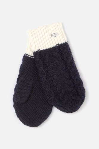 L!VE Women's Colorblock Cable Knit Mitten