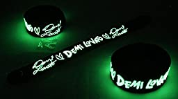 Demi Lovato New Glow in the Dark Bracelet Rubber Wristband Let It Go HG161