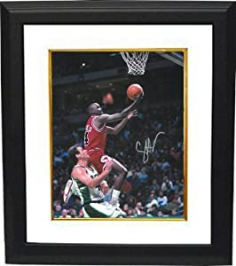 Craig Hodges signed Chicago Bulls 8x10 Photo Custom Framed vs Milwaukee Bucks (3X 3... by Athlon+Sports+Collectibles