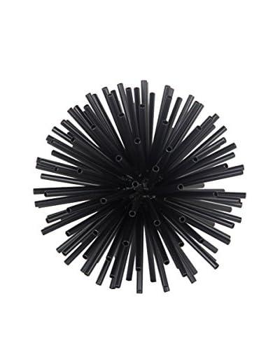 Large Metal Pipe Orb, Black