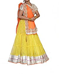 Khushi Boutique Net yellow Lehanga