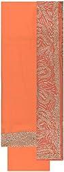 Gunjan Women's Crepe Unstitched Salwar Suit (Orange)