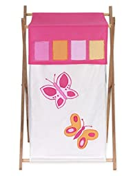 Kids Laundry Hamper for the Pink and Orange Butterfly Collection by Sweet Jojo Designs