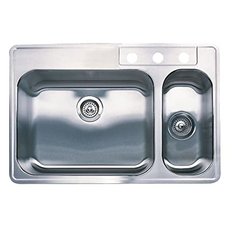 Blanco 501-107 BlancoSpex 1-1/2 Bowl Drop-In Stainless Steel Sink