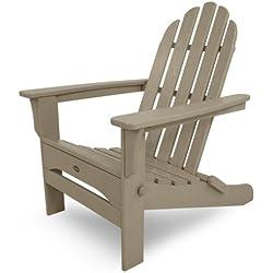 Trex Outdoor Furniture Cape Cod Folding Adirondack Chair, Sand Castle