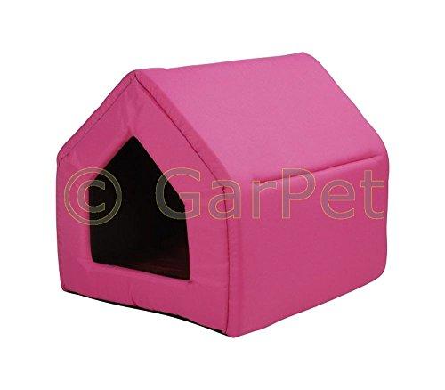Hundehaus-Katzenhaus-Hundehtte-Hunde-Katzen-Huschen-Schlafplatz-Katzenhtte-Gr2-pink