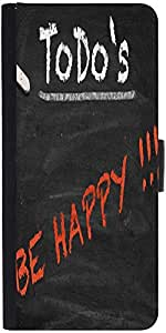 Snoogg Todo Happy Graphic 2803 Designer Protective Phone Flip Case Cover For Intex Eco 102E