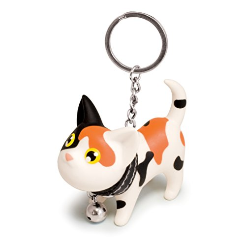 B.Duck Kat Keyring, Black and Orange - 1