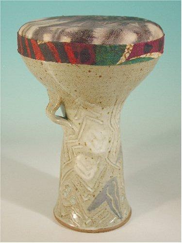Doumbek Ceramic Goatskin, Abstract Design Tie Dye Goat Skin