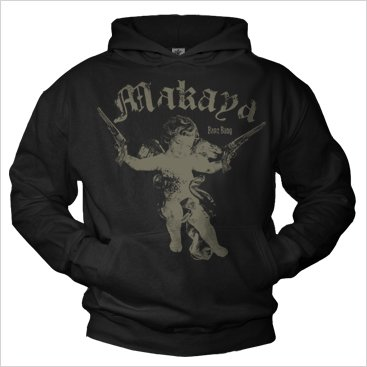 Vintage Angel Hoodie for Men BANG BANG Pullover Hoodies Black XL