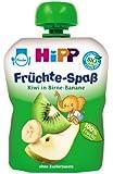 Hipp Früchte-Spaß Kiwi in Birne-Banane, 6er Pack (6 x 90 g) - Bio