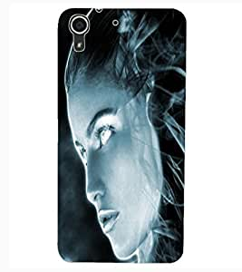 ColourCraft Scary Girl Design Back Case Cover for HTC DESIRE 626
