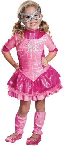 Toddler Girl'S Costume: Spidergirl Pink Deluxe 3T-4T *** Product Description: Deluxe Pink Spider-Girl Costume Dress, Petticoat, Pair Of Leg Warmers And Eye Mask. Fits Toddler Size 3T-4T. *** front-992456