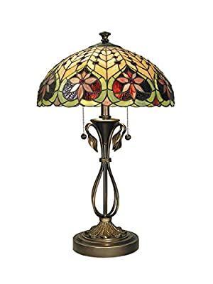 Dale Tiffany Table Lamp, Brass