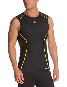 Skins Herren Kompressiontop A200 Sleeveless, black/yellow, XS, B60052003XS