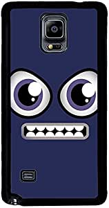 PrintVisa 2D-SGN4-D7738 Cartoon Grin Smiley Case Cover for Samsung Galaxy Note 4