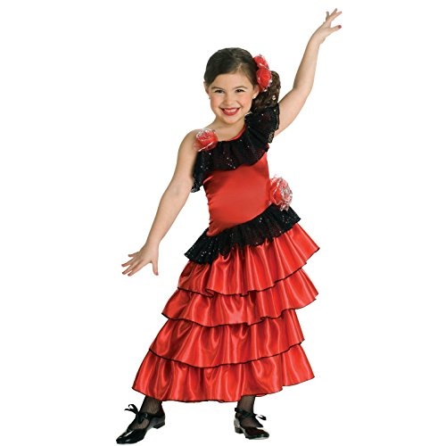 Flamenco Princess Girls Costume - Small (4-6) (Girls Spanish Flamenco Dancer Costume)