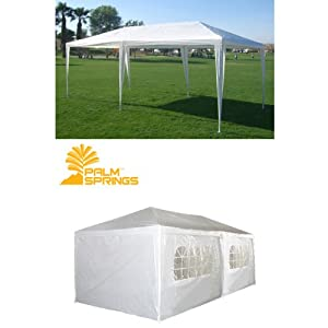 Palm Springs 10 X 20 White Party Tent Gazebo Canopy with Sidewalls by Palm Springs