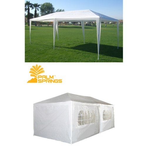 Palm Springs 10 X 20 White Party Tent Gazebo