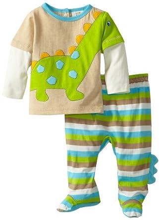 Amazon ABSORBA Baby Boys Newborn Dinosaur Footed Pant