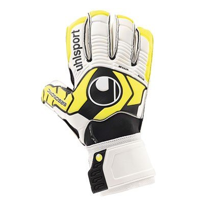 uhlsport Ergonomic Soft R – Guantes de portero para fútbol, color multicolor, talla 8