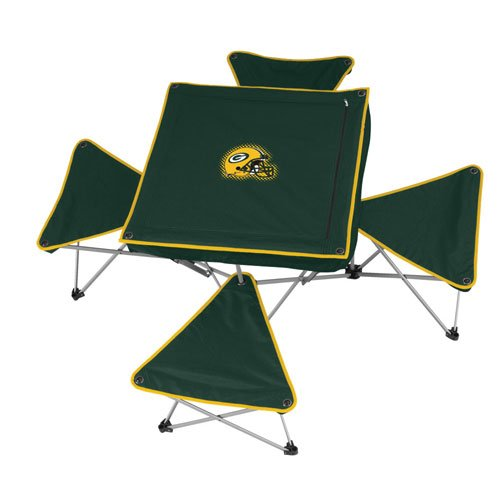 Green Bay Packers NFL Intergrated Table with Stools by Northpole