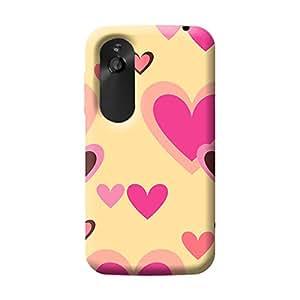 Garmor Heart Shape Design Plastic Back Cover For HTC Desire V (Heart Shape - 6)