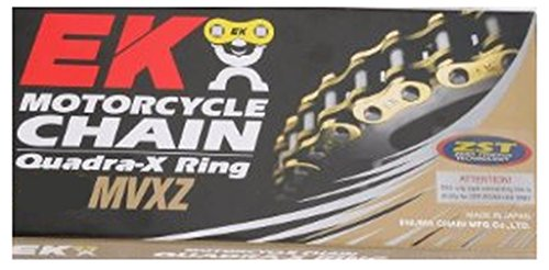 EK Chain 525 MVXZ Quadra X-Ring Chain - 120 Links - Nickel , Chain Type: 525, Chain Length: 120, Color: Nickel, Chain Application: Offroad 801C-525M