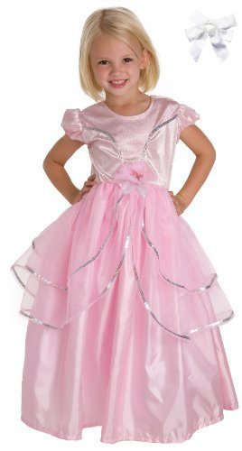 [Little Adventures 11202 Royal Pink Princess Dress Costume Age 3-5 with Hairbow] (The Best Halloween Costumes Ever Made)