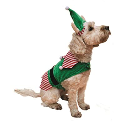 Rosewood Christmas Novelty Elf Costume for Dogs, Large