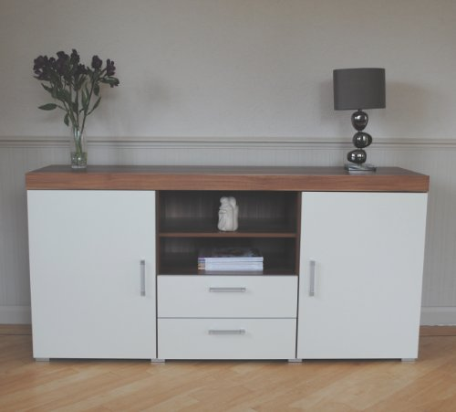 white walnut sydney large 2 door 2 drawer sideboard. Black Bedroom Furniture Sets. Home Design Ideas