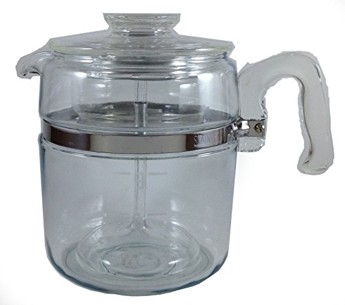 VINTAGE Corning Pyrex Flameware 9 cup Percolator Coffee Pot