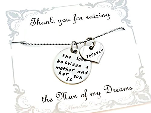"Mothers Day ""Thank You for Raising the Man of My Dreams"" Love Between a Mother and Son Necklace"