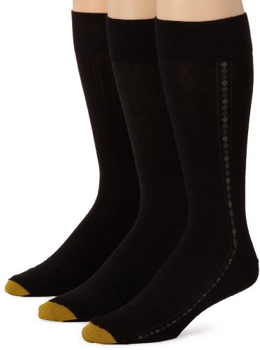 Gold-Toe Three Pack Mens Extended Size Fashion Socks