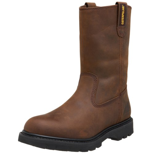 Caterpillar Men's Revolver Pull-On Soft Toe Boot,Wellington Dark Brown,10 M US