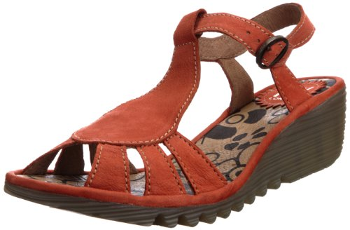 Fly London Women's Oily Orange T Straps P500384008 8 UK