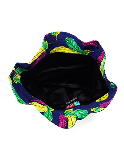 NYfashion101-Fashionable-Unisex-Satin-Lined-Printed-Pattern-Cotton-Bucket-Hat