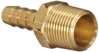 Dixon Valve & Coupling BN Brass Hose Fitting, Adapter, NPTF Male x Hose Inner Diameter Barbed