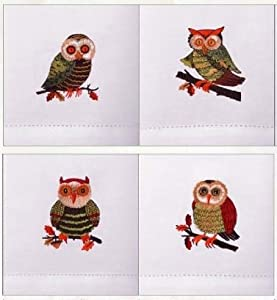 Amazon.com: Owls Birds Kitchen Hand Towel Set By Debbie Mumm ...